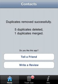 Duplicate Remover and Merger for iPhone, iPod touch, and iPad